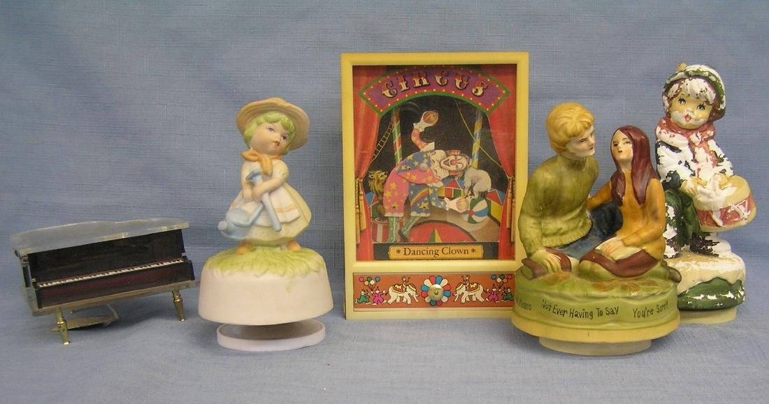 Vintage music boxes