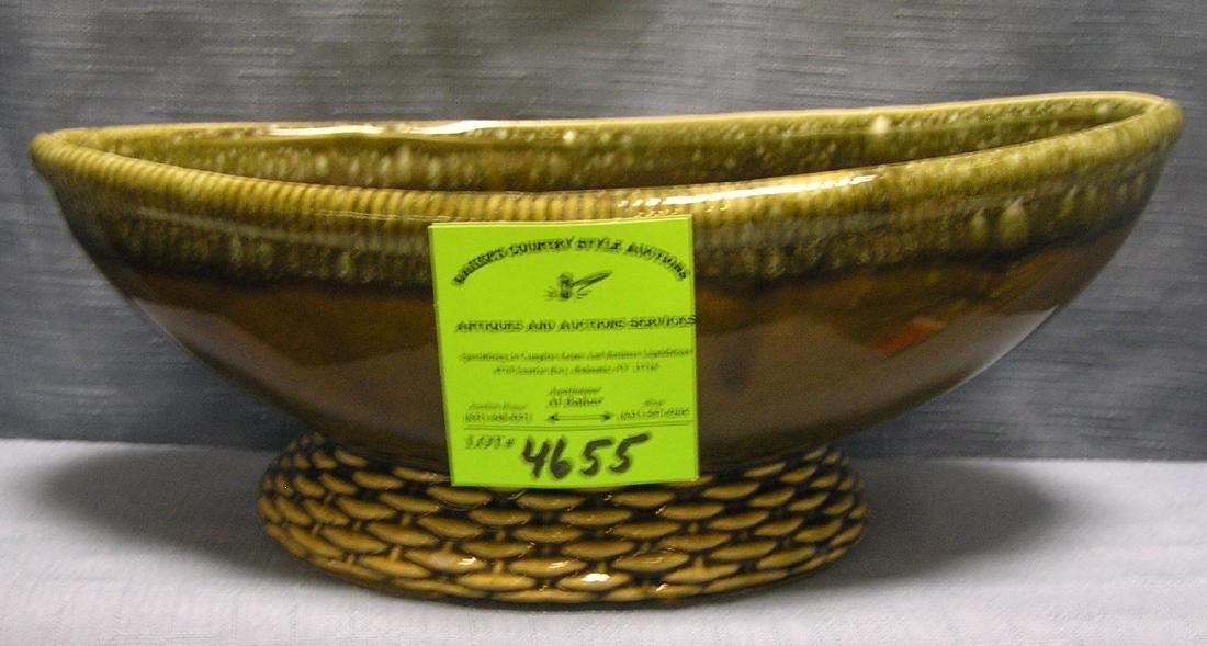 Vintage art pottery flower bowl