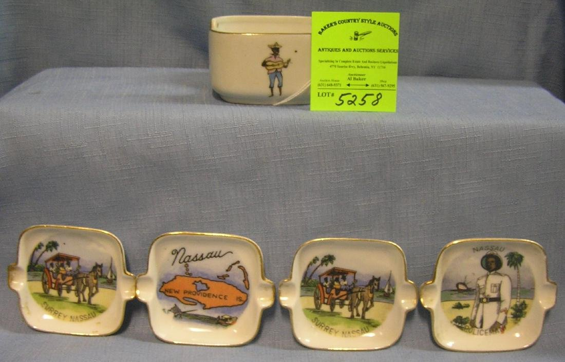 Souvenir Ashtray set from Nassau Bahamas