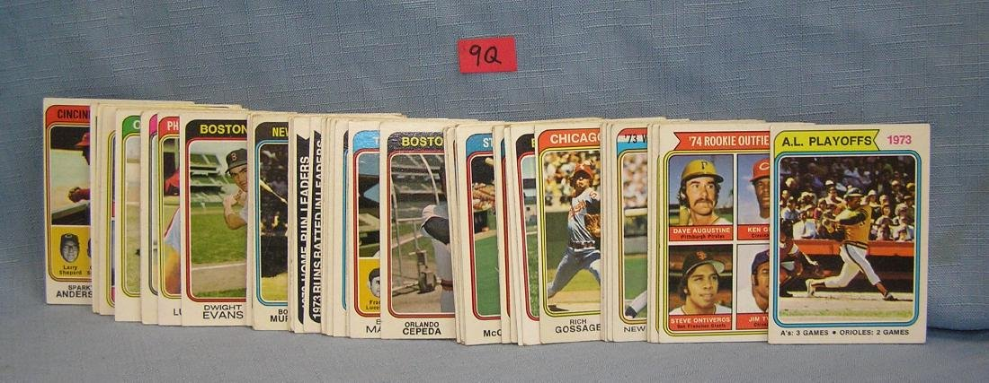 Group of 1974 Topps all star cards