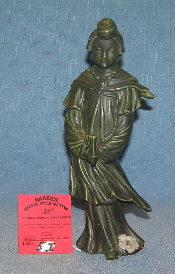 "8 1/2"" porcelain Asian female figurine"