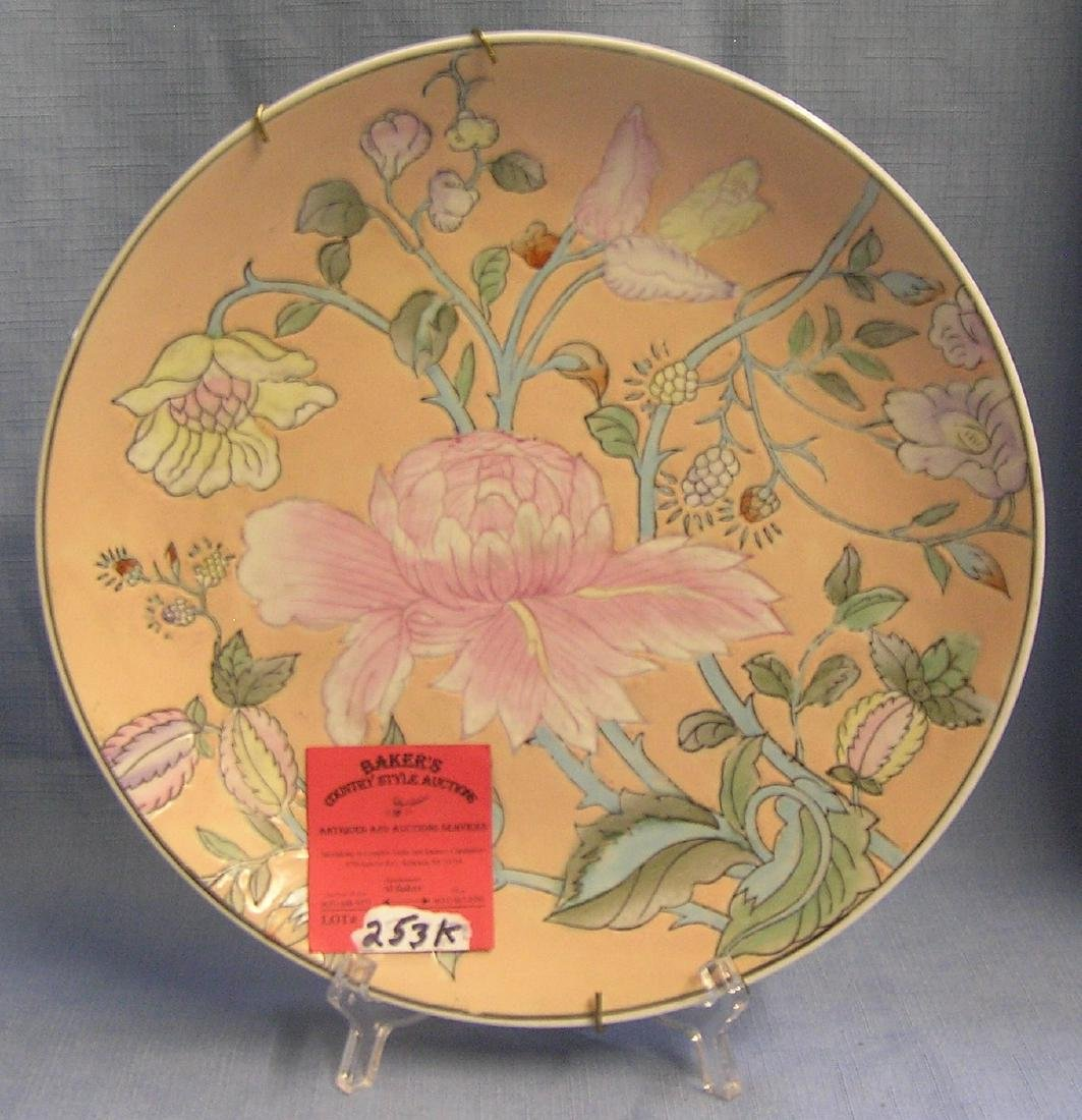 Vintage floral decorated collector plate