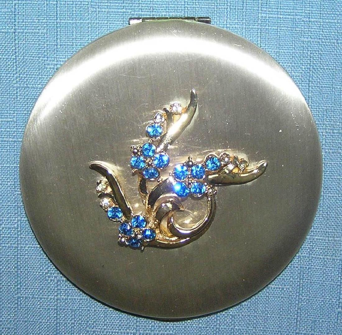 Great early decorated makeup compact by Zell - 2