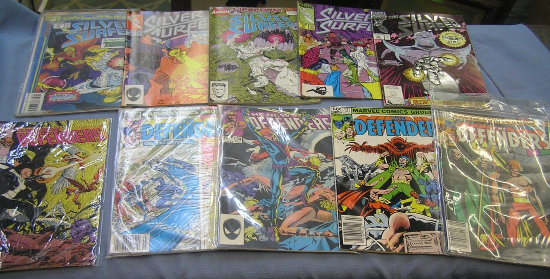 Marvel The Defenders and Silver Surfer comic books