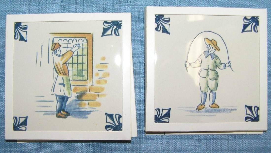 Large collection of Delftware tiles - 4