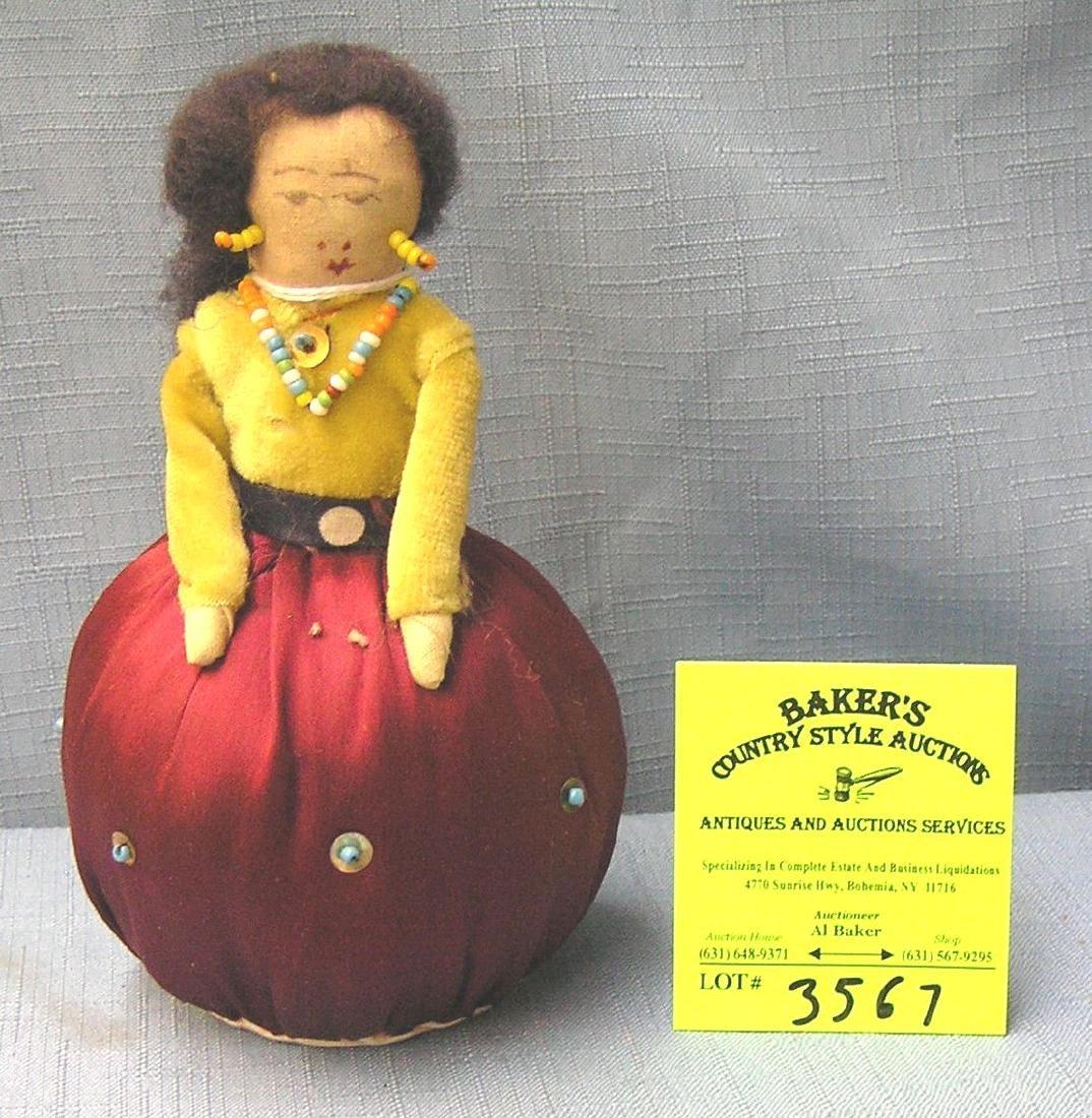 American Indian handmade pin cushion doll
