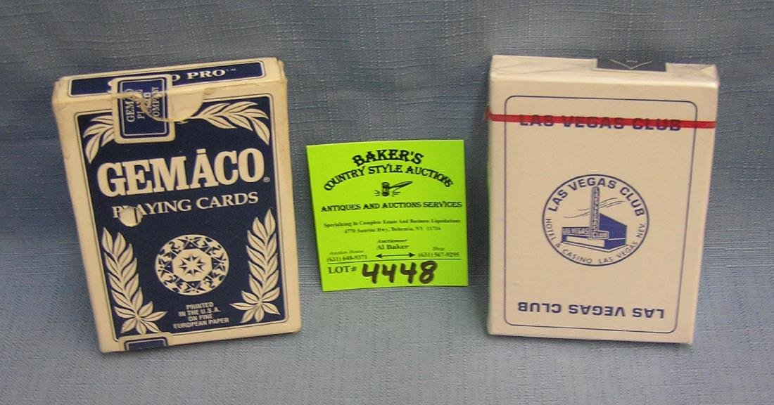 Pair of vintage decks of cards
