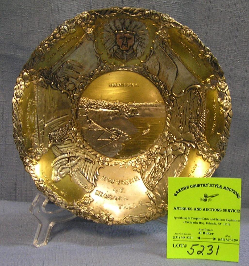 Great early souvenir bowl from Niagara Falls