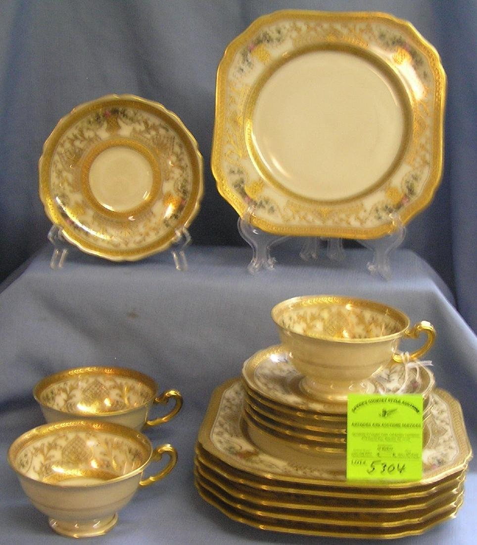 Tucker and Lichtman cup, saucer and plate set