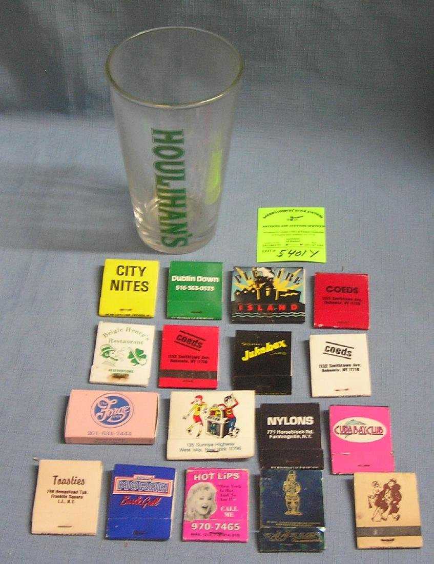 Beer glass and pub related matchbook collection
