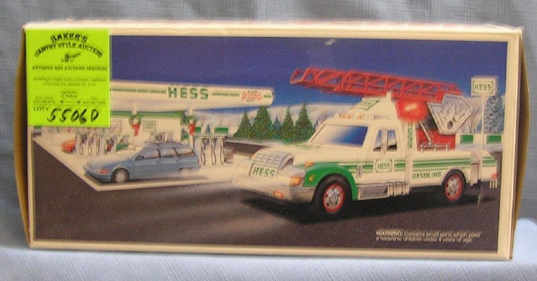 Vintage HESS rescue truck mint in original box