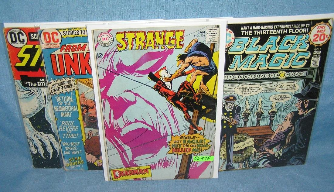 Group of early DC comic books