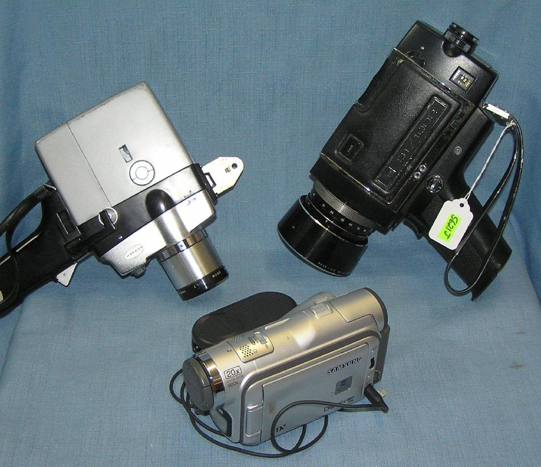 Group of 3 vintage movie cameras