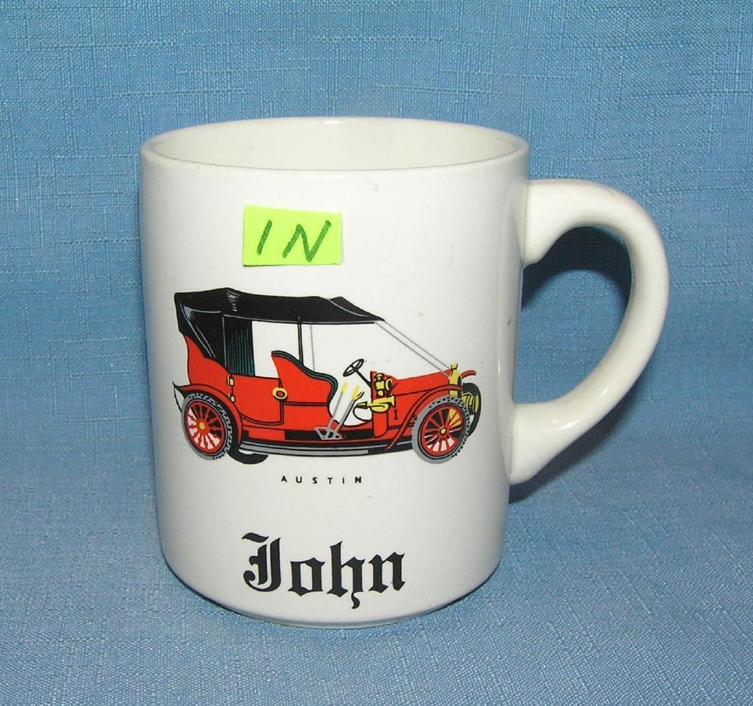 Vintage Austin automobile coffee mug