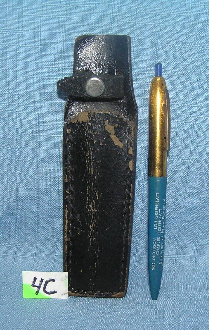 NY City Policeman's pen holder and pen
