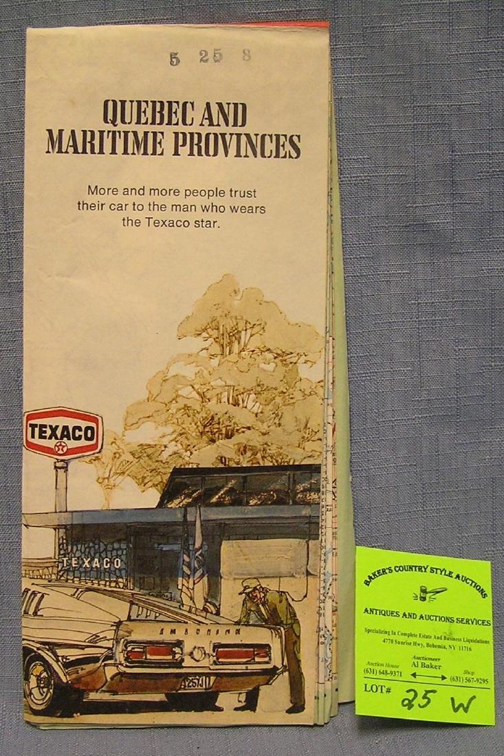 Vintage Texaco gasoline road map