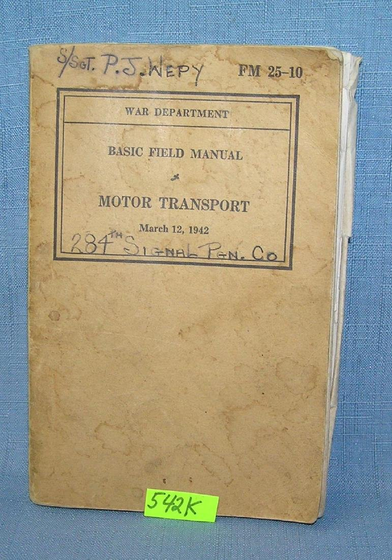 WWII motor transport book