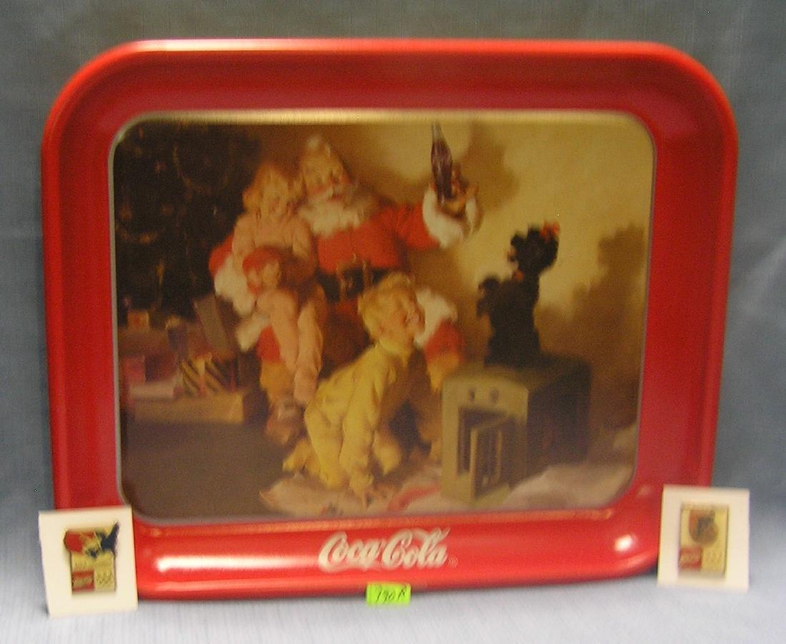 Coca-cola advertising collectible serving tray