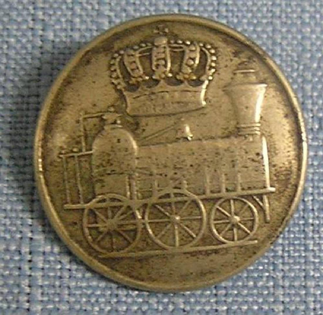 Early Rail road button