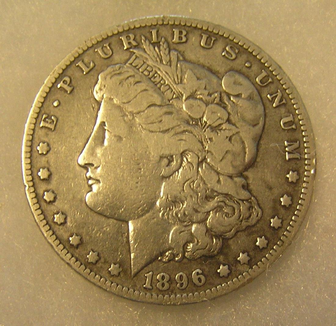 1896O Morgan silver dollar in fine condition