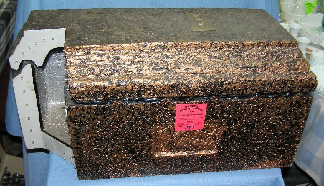 Vintage salesman sample burial vault