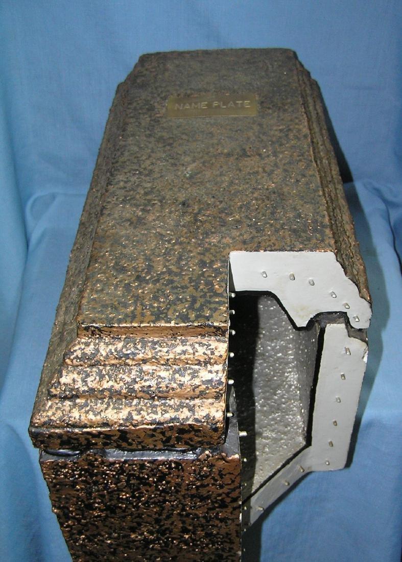 Vintage salesman sample burial vault - 2