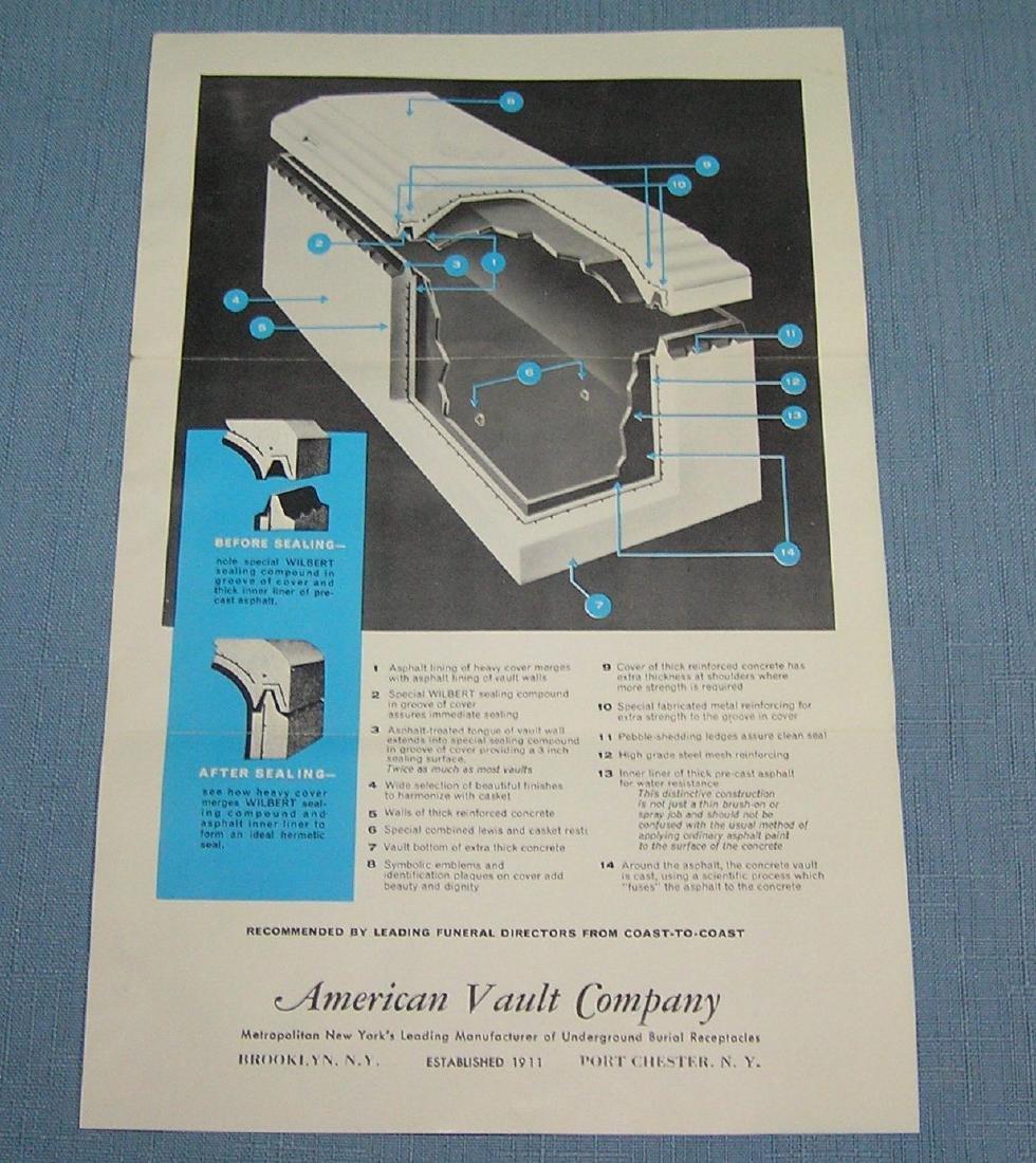 Vintage salesman sample burial vault - 3