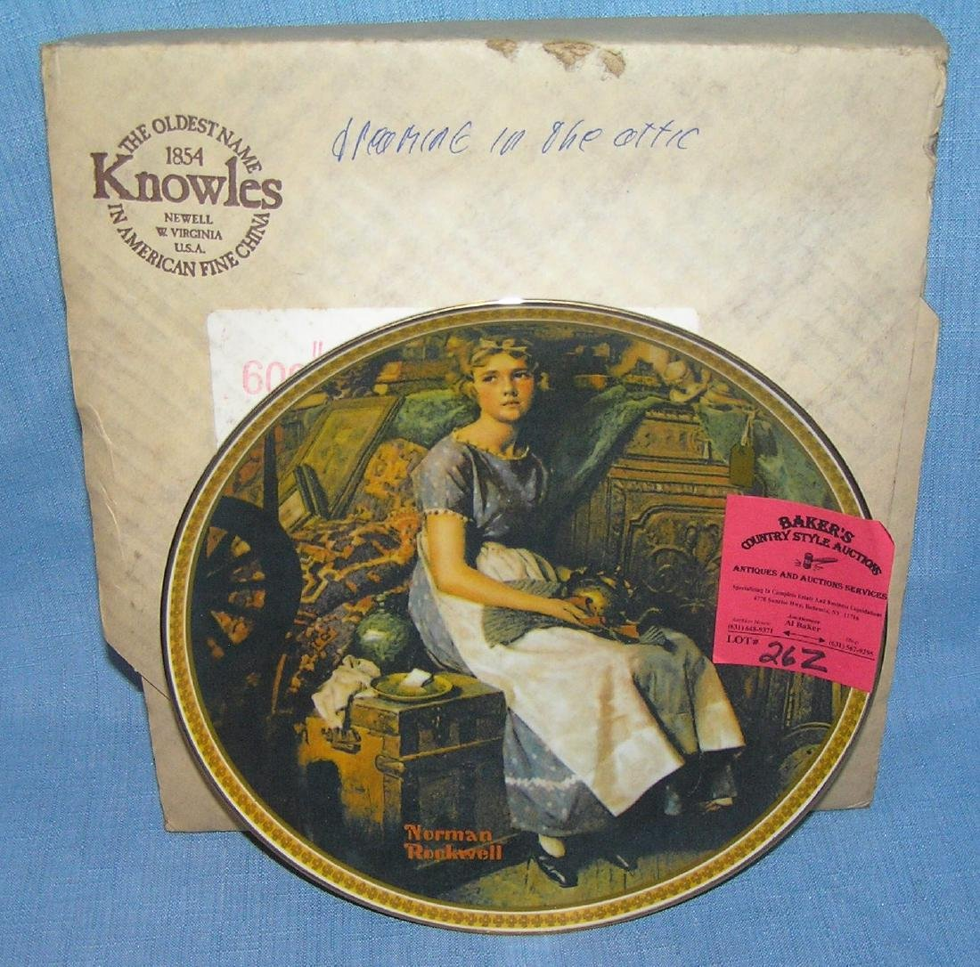 Norman Rockwell collector plate: Dreaming in the Attic