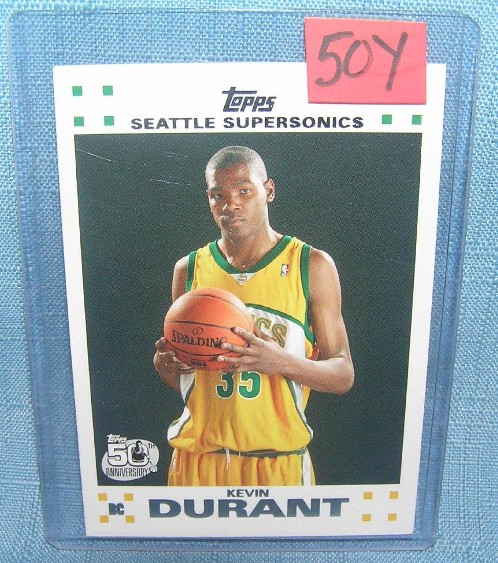 Kevin Durant rookie basketball card