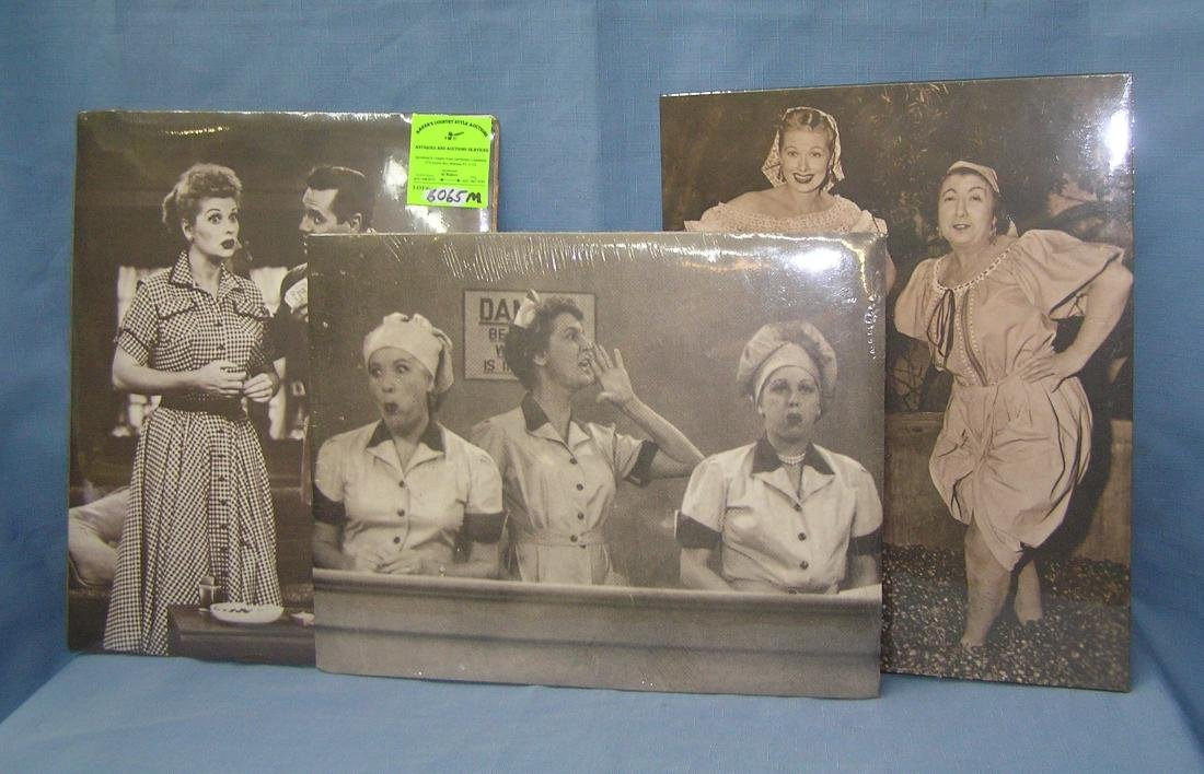 Group of 3 vintage I Love Lucy TV series prints