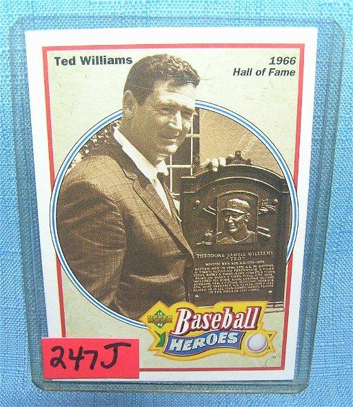 Ted Williams Baseball Card Jun 24 2018 Bakers Antiques