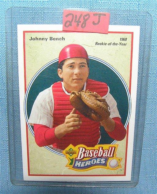 Johnny Bench Baseball Card