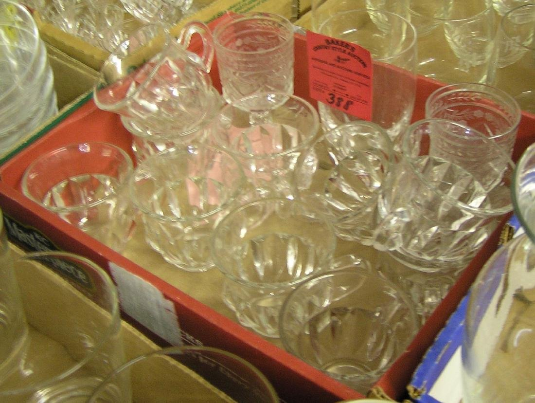 Vintage glass and crystal cups and glasses