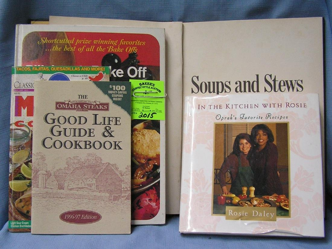 Group of vintage cook books