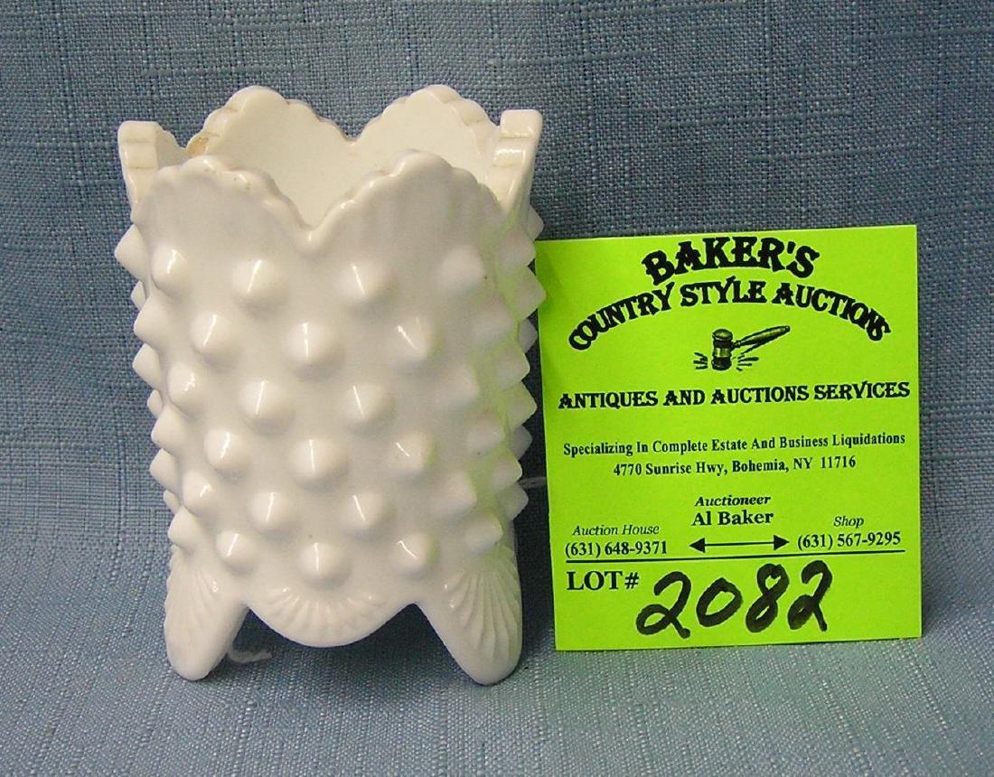 Vintage Milk Glass egg holder/toothpick holder