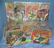 Large group of vintage Marvel Silver Surfer comic books