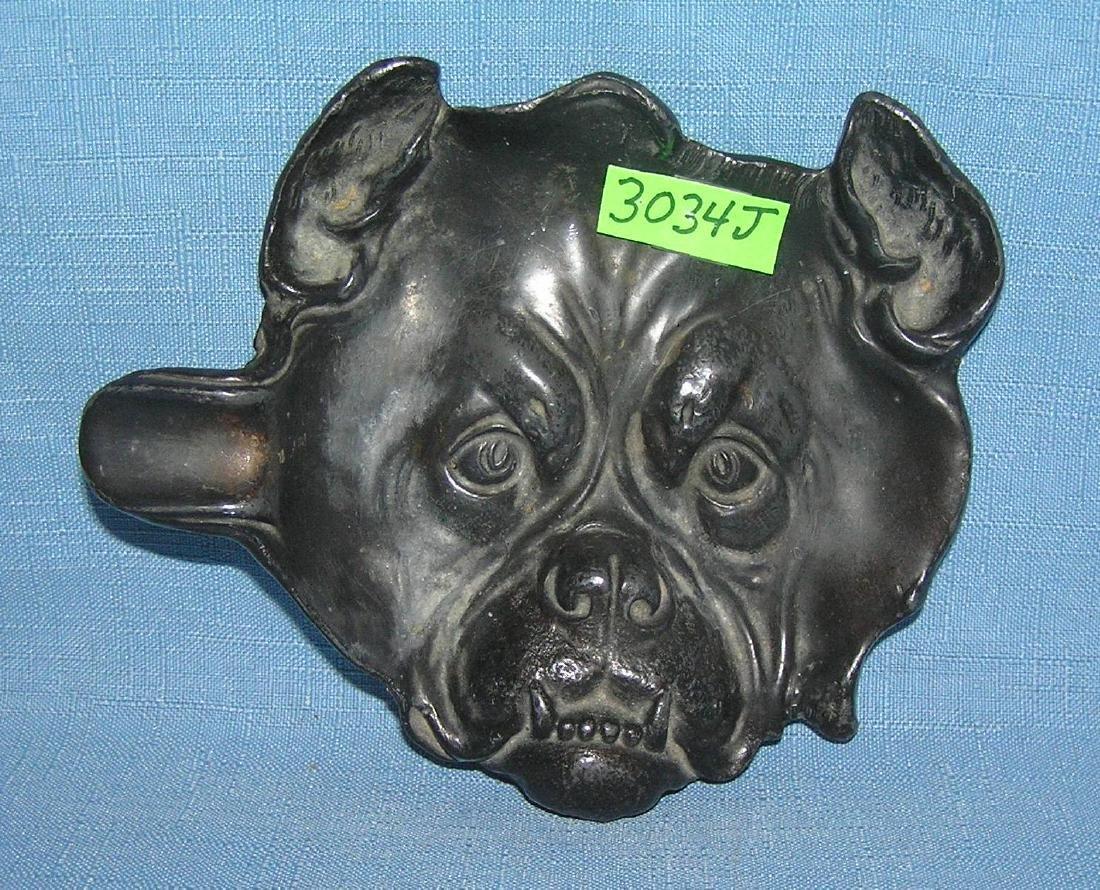 Cast iron bull dog ashtray