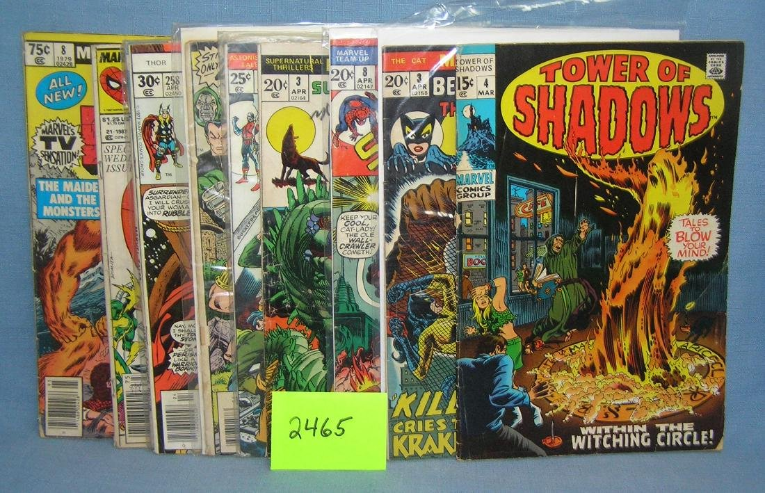 Group of early Marvel comic books