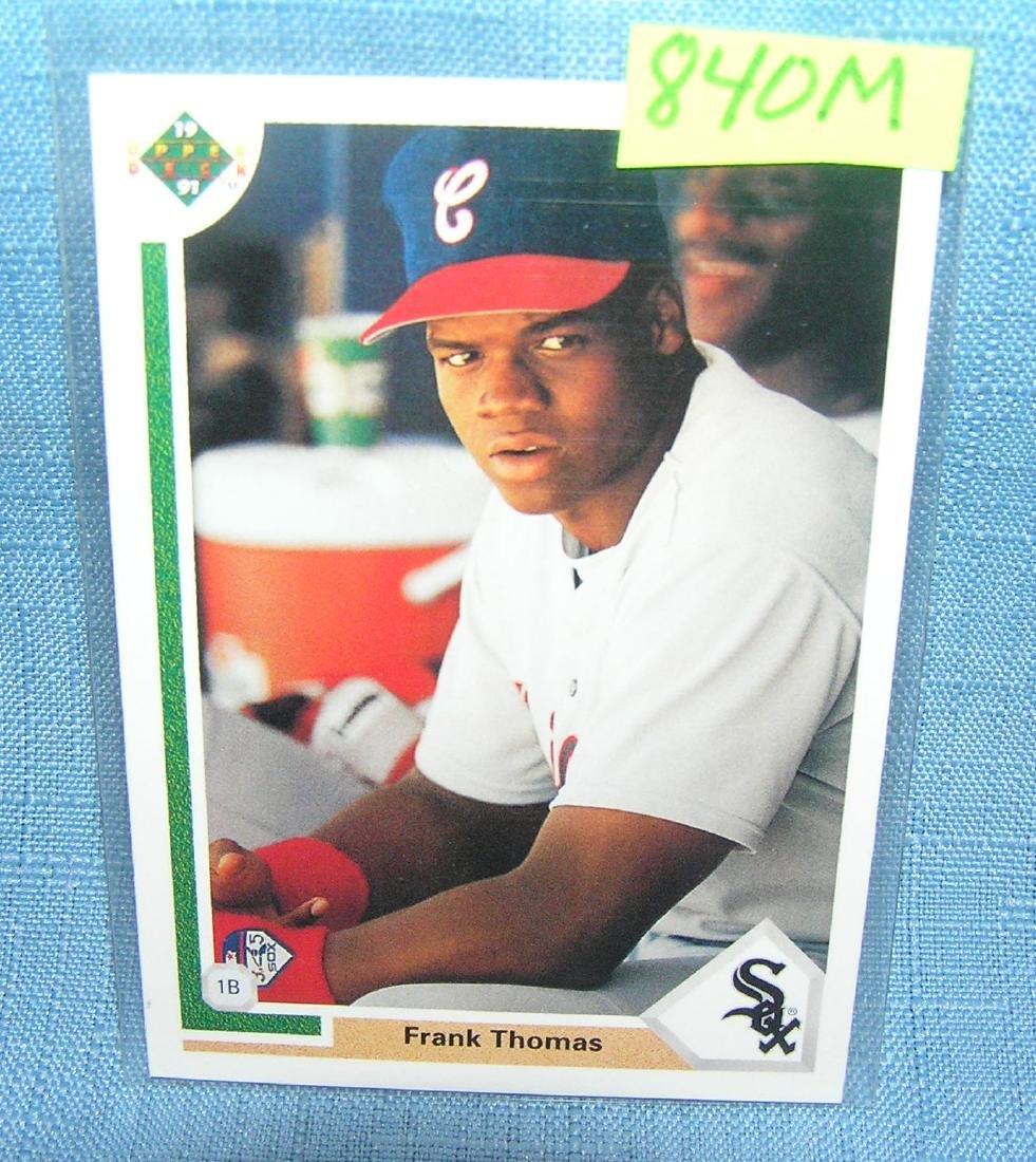 Vintage Frank Thomas Rookie Baseball Card Jul 18 2018 Bakers