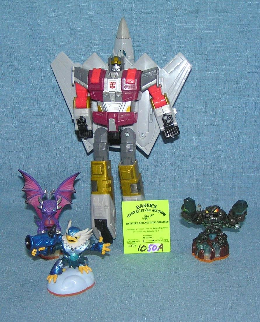Group of robots and space creatures