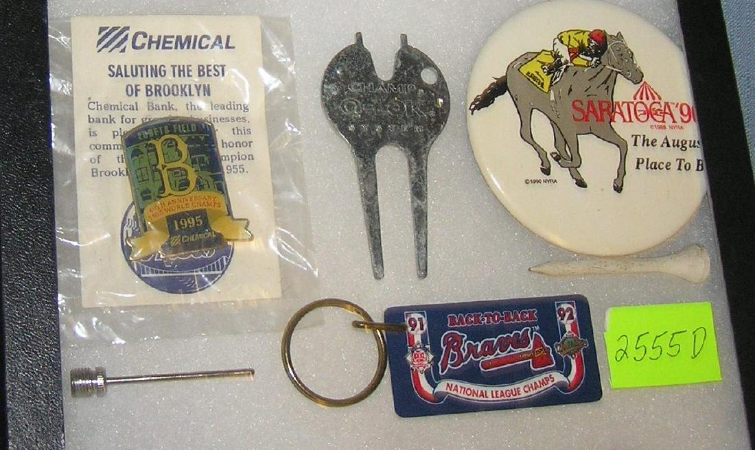 Group of vintage sports collectibles