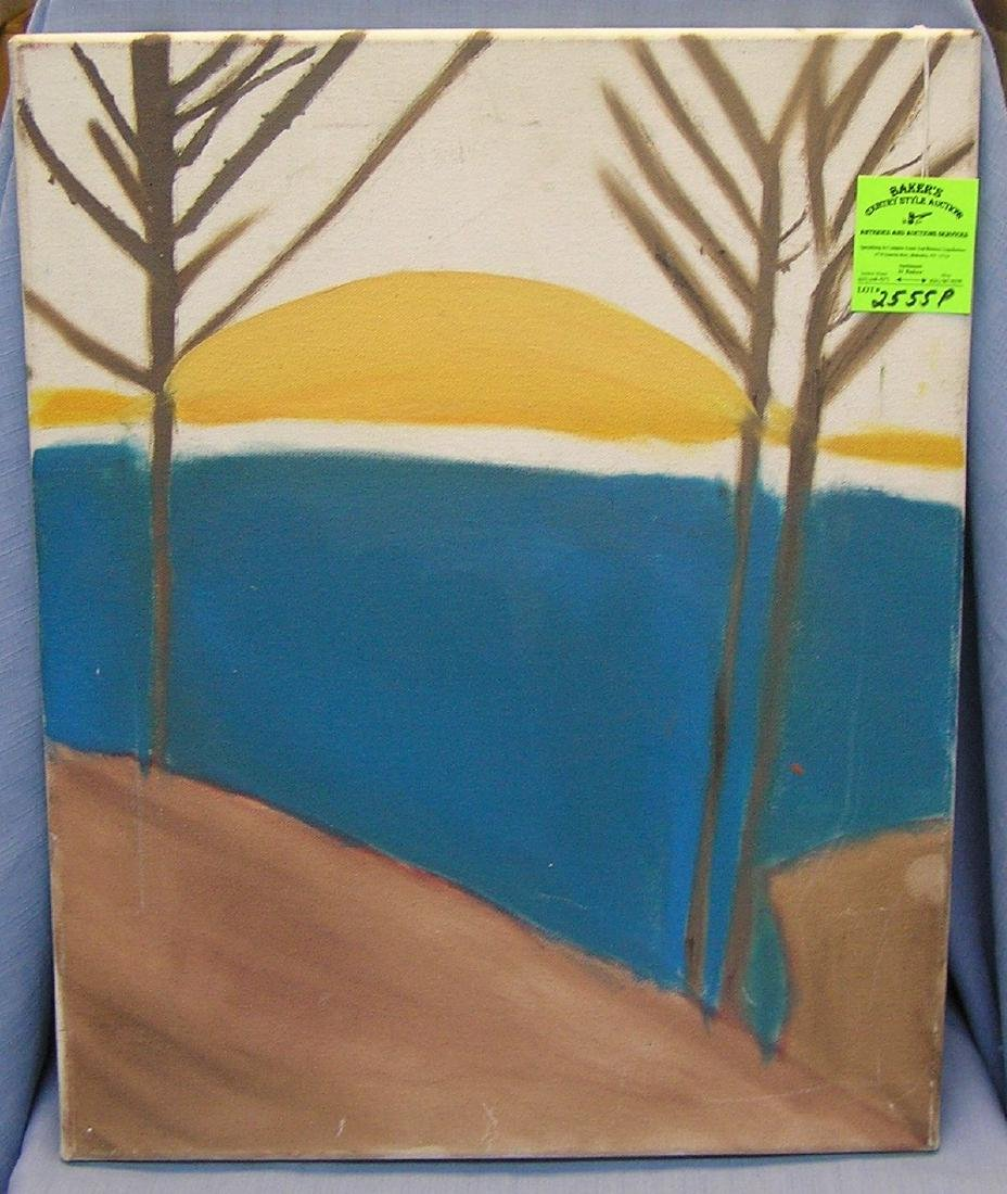 Modern South West style oil on canvas painting