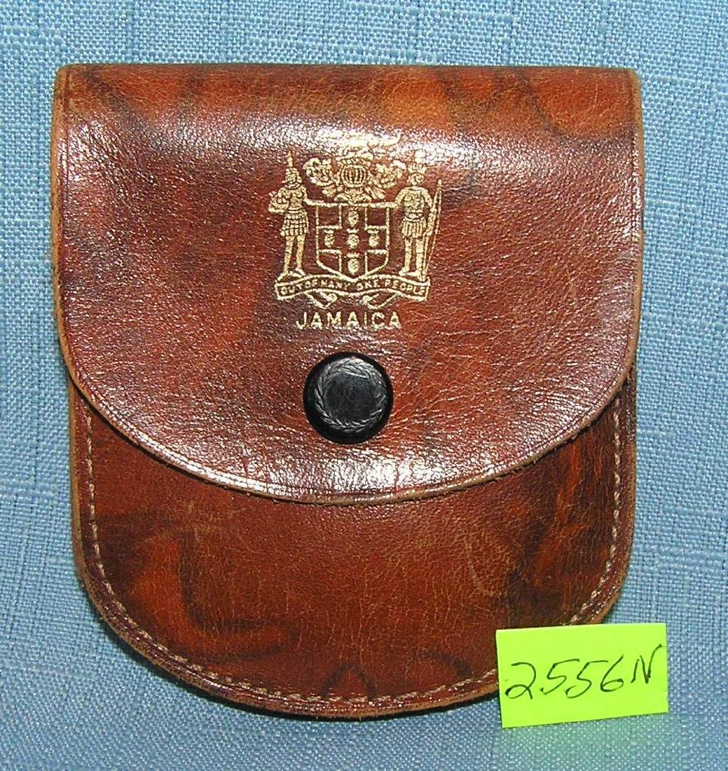 Jamacian police leather pouch