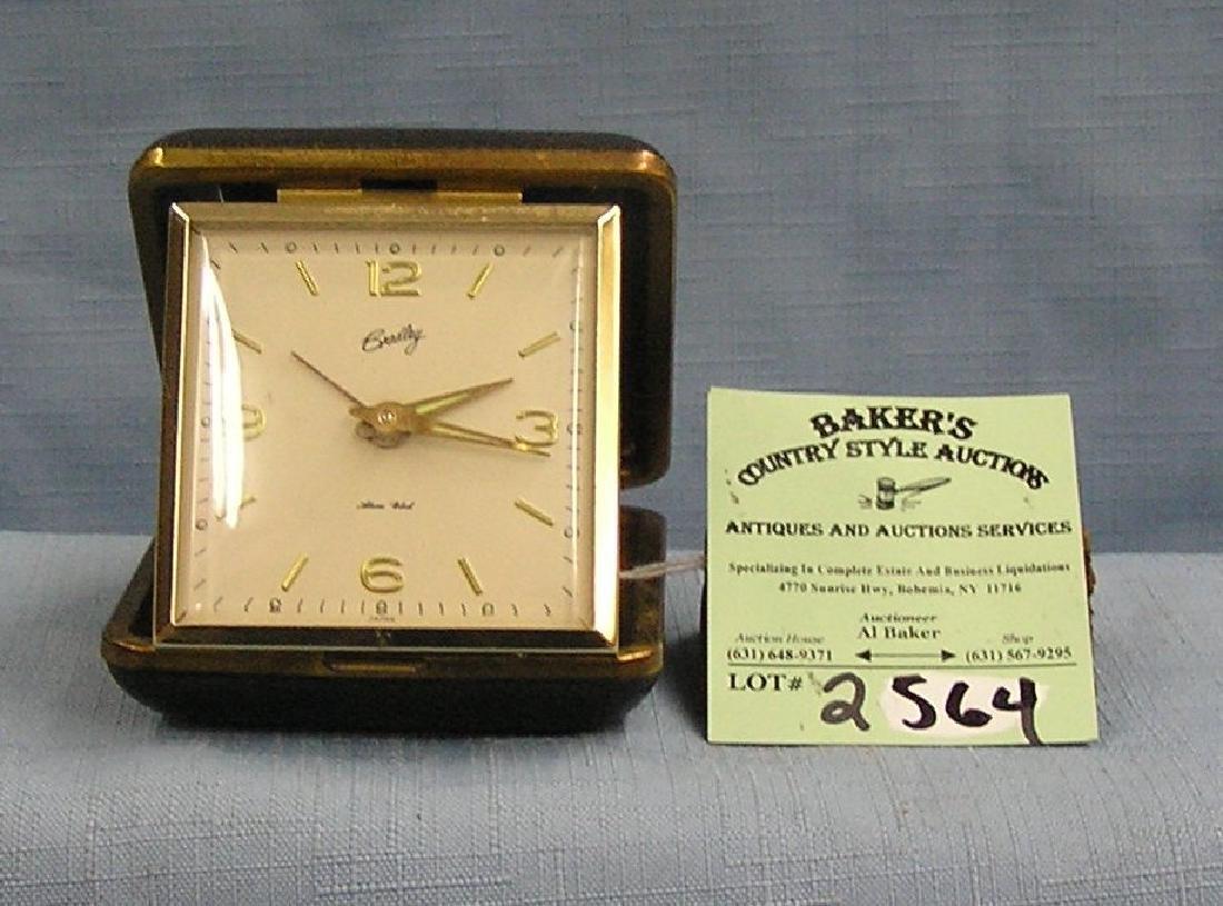 Vintage Bradley travel alarm clock with box