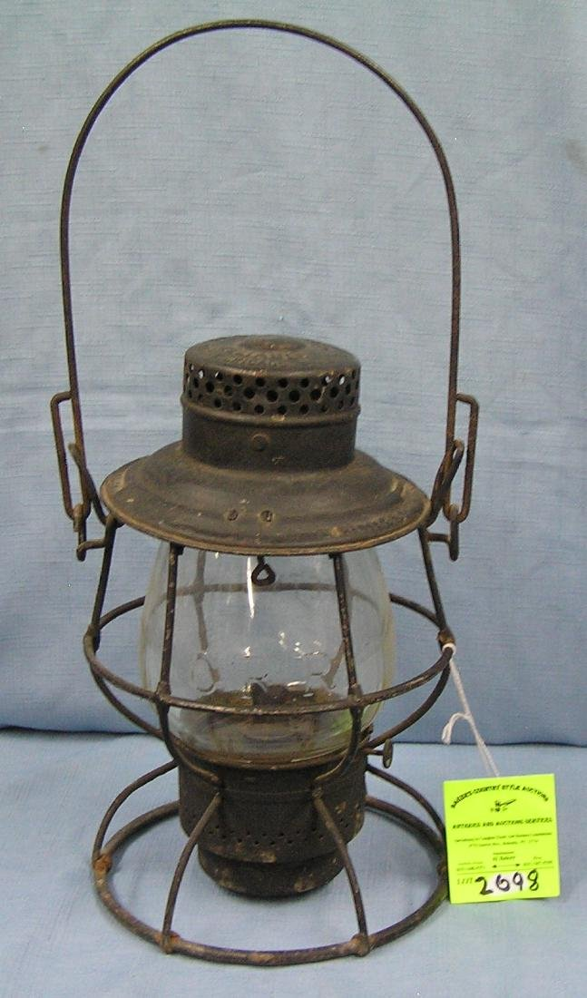 Antique Illinois Central Railroad lantern