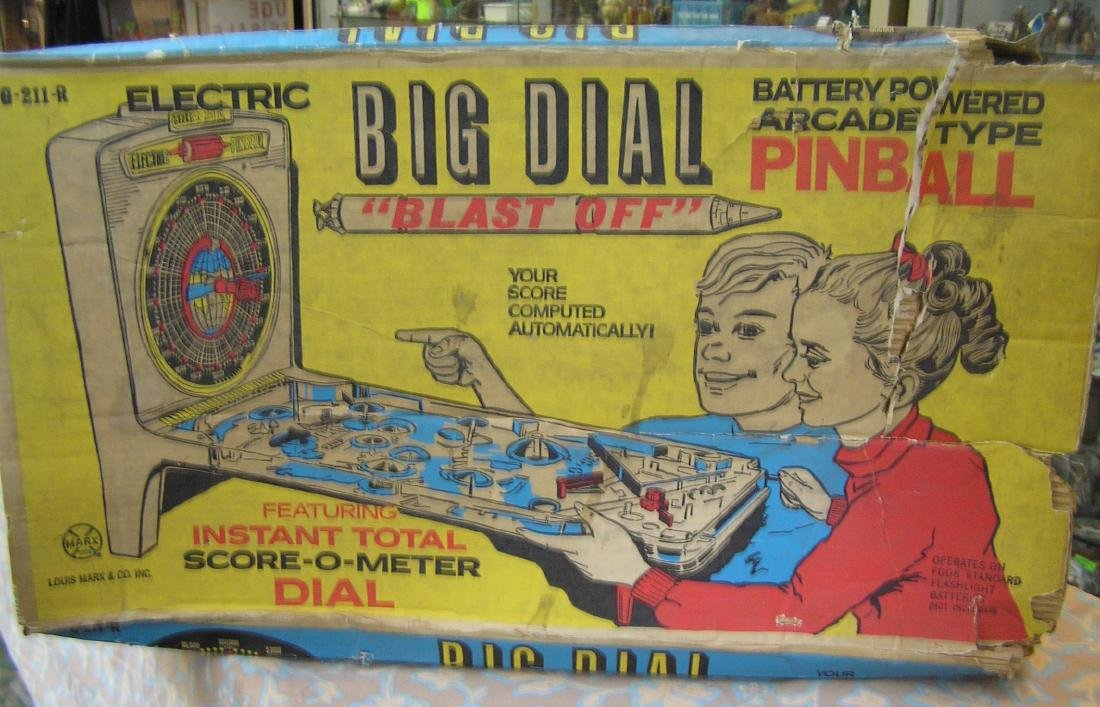 Louis Marx Big Dial blast off pinball machine - 2