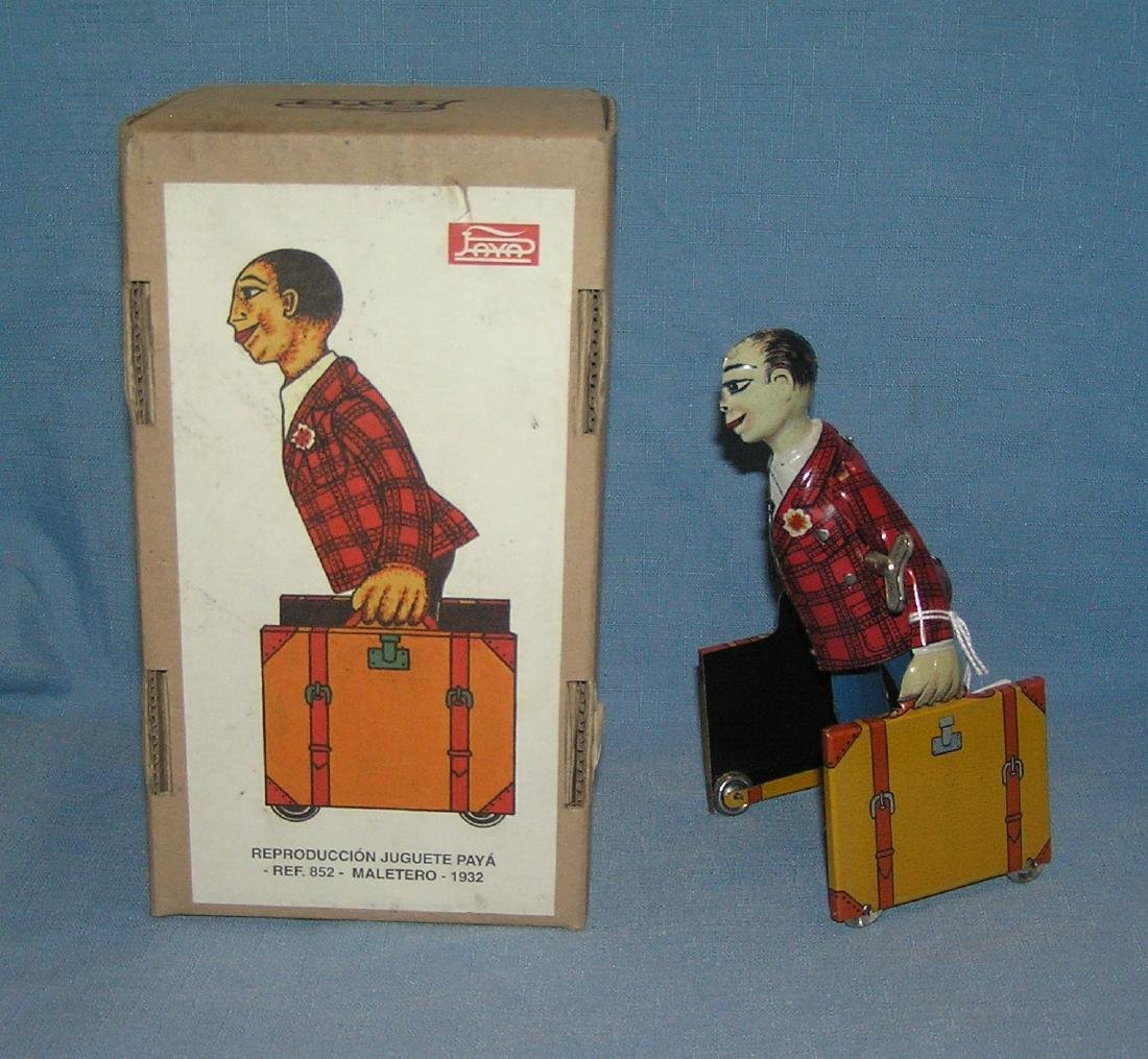 Paya Toys retro mechanical windup porter toy