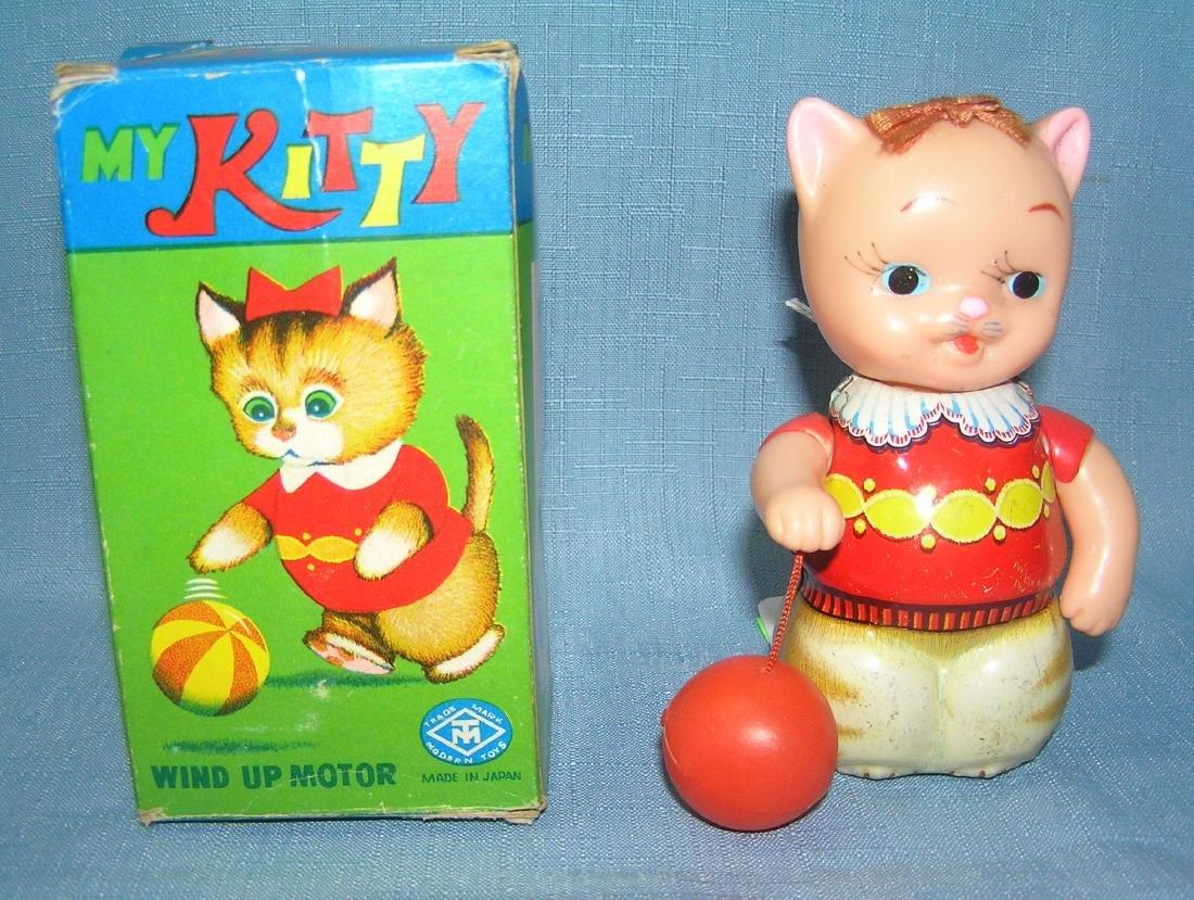 "Windup mechanical tin ""My Kitty"" toy"