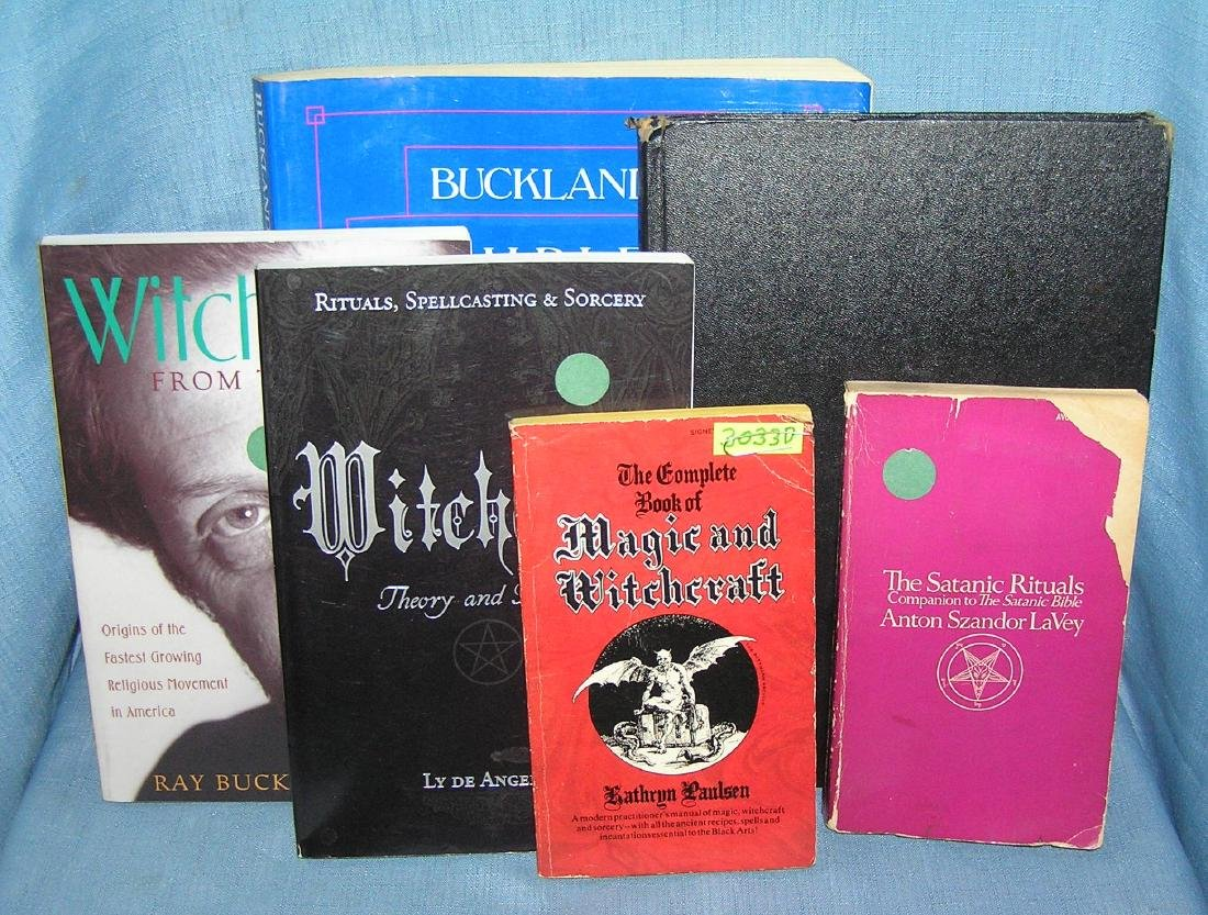 Collection of witchcraft, magic and satanic books