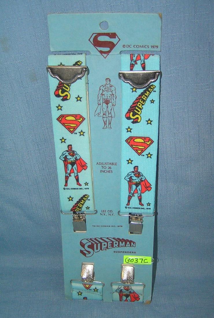 Vintage Superman suspender set mint on card